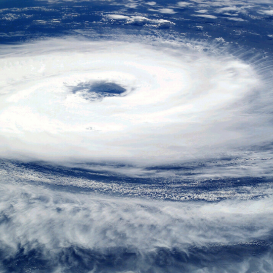 photo of hurricane satellite image